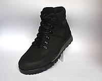 Кожаные зимние ботинки мужские из нубука Rosso Avangard Lomerback Grayline черные