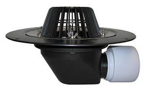 HL64 Воронка с листвоуловителем, с теплоизоляцией, с фланцем из нержавеющей стали, с горизонтальным выпуском