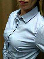 Блуза  в мелкий серый принт