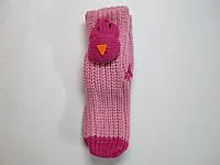 Носки детские розовые для дома с 3д  игрушкой 15 см.