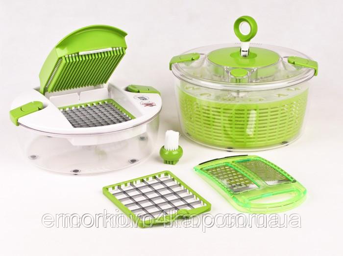 Овощерезка Salad Spinner mandoline slicer 4 in 1, измельчитель Салат Чиф Chef
