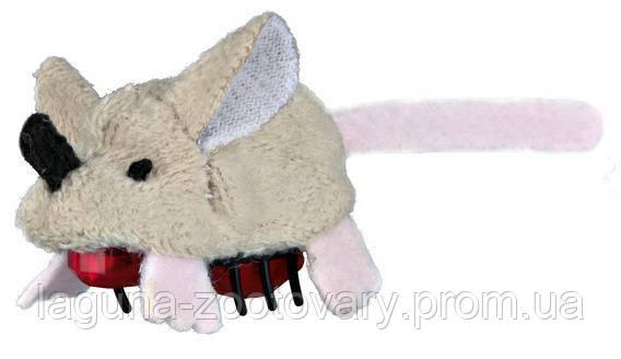 """Бегающая игрушка """"Крейзи Маус"""" для кошек, мышка, плюш, 5,5см, фото 2"""