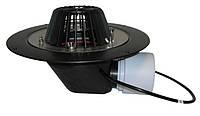 HL64.1 Воронка с листвоуловителем, с теплоизоляцией, с фланцем из нержавеющей стали, с горизонтальным выпуском
