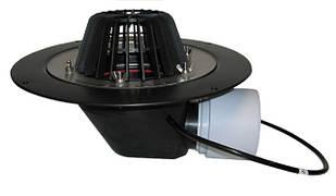 Воронка Hutterer & Lechner с листвоуловителем с теплоизоляцией, фланцем из нержавеющей стали и горизонтальным выпуском HL64.1