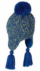 Теплая вязанная молодежная шапочка для девушек от Loman Польша, фото 3