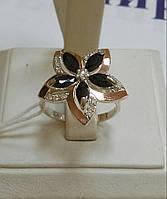 Кольца серебро со вставками золота