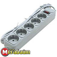 Фильтр питания Gembird Power Cube 5 розеток 1,8м (SPG5-G-6G) серый