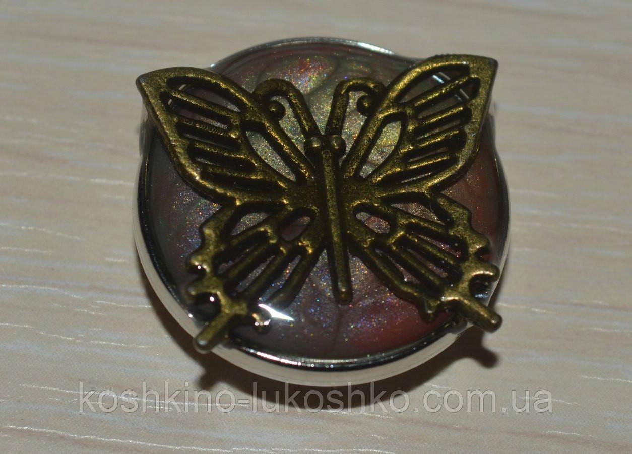 Змінна кнопка чанка ручної роботи з метеликом