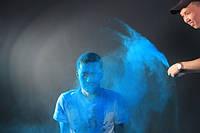 Фарба Холі, Гула, Синя, від 10 кг., Пакети 100 грам, для фествіалів, флешмобів, фот, фото 1