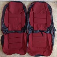 Чехлы модельные Pilot ВАЗ 2103/06 кожзам черный + ткань красная, подголовники съемные