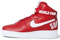 Мужские кроссовки Nike Air Force 1 High Supreme Red, найк аир форс
