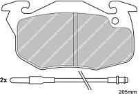 Тормозные колодки передние Peugeot 106/205/305/309/405, Renault 19/21/Clio/Rapid (RL 529481)