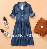 Платье джинсовое на кнопках, фото 1