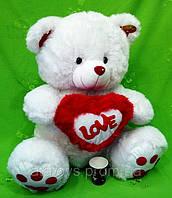 Мишка с сердцем ( 60 см ), плюшевые мягкие игрушки, игрушки для детей, игрушки оптом