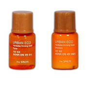 Тоник и эмульсия для сухой зрелой кожи THESAEM Urban Eco Harakeke Firming Seed 5+5мл