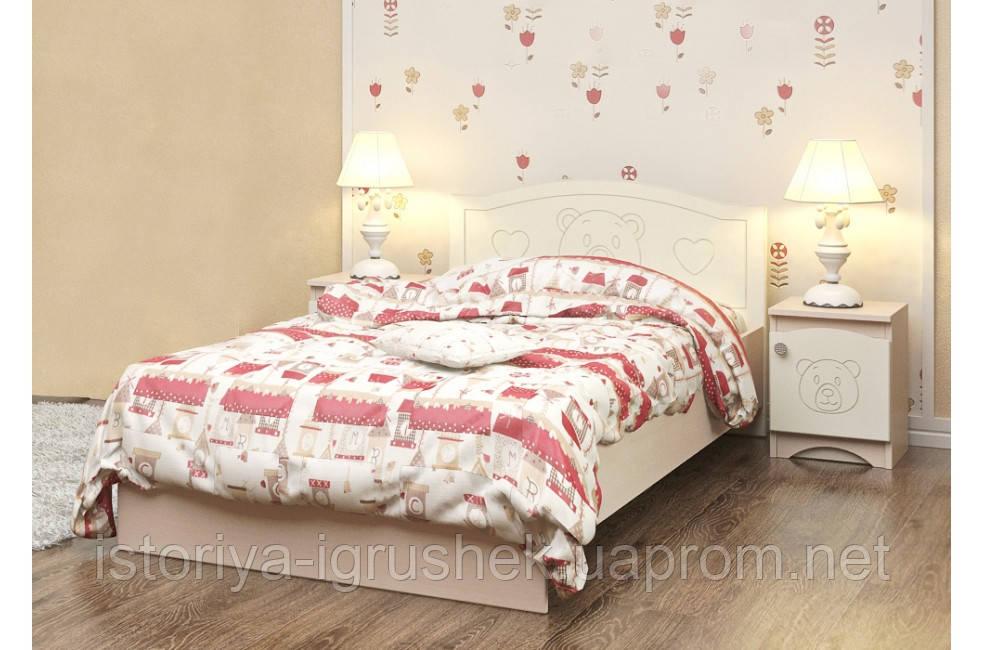 Детская кровать «Мишка» 120x190 см, без ящиков, цвет: вани