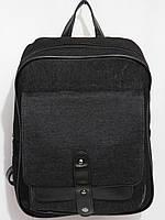 Рюкзак Джинсовый карман клапан черный, фото 1