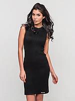 Удобное вязаное женское платье без рукавов 90140