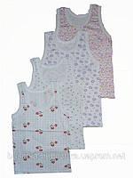 Майка для девочки, цветная, кулир 26 размер