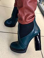 Стильные женские ботинки в стиле Baldinini натуральная кожа, внутри на байке