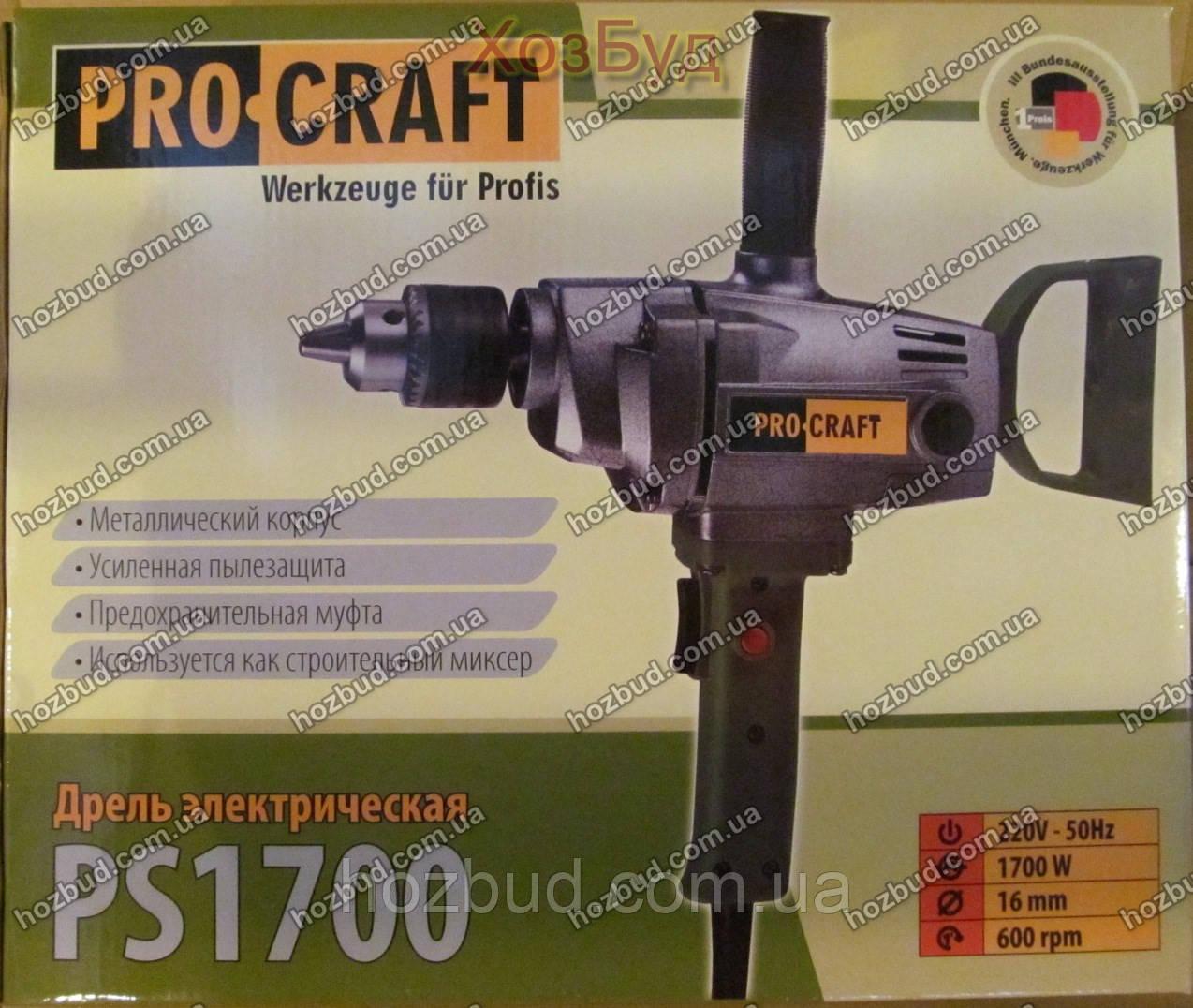 Дрель PROCRAFT PS1700