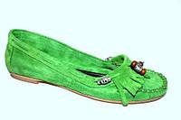 Мокасины женские зеленые, фото 1