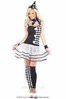 Тематический костюм клоуна Арлекино