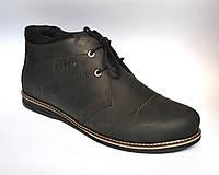 Большой размер кожаные зимние мужские ботинки дезерты черные Rosso Avangard WinterkingZ Big Black Barbieri, фото 1