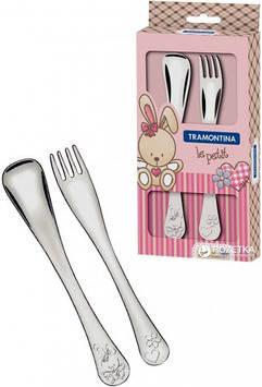Набір дитячих столових приборів Tramontina Baby Le Petit Pink 66973/015 2 предмета
