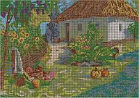 Картина для вышивки бисером размер А3 Українська хатинка КМР 3093