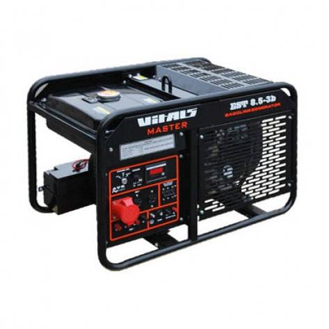 Бензиновый генератор Vitals Master EST 8.5-3b 3 фазы, фото 2