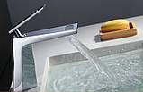Смеситель кран однорычажный в ванную комнату для умывальника, фото 2