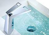 Смеситель кран однорычажный в ванную комнату для умывальника, фото 3