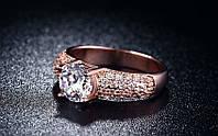 704 - Бижутерия-Позолоченное кольцо с цирконами