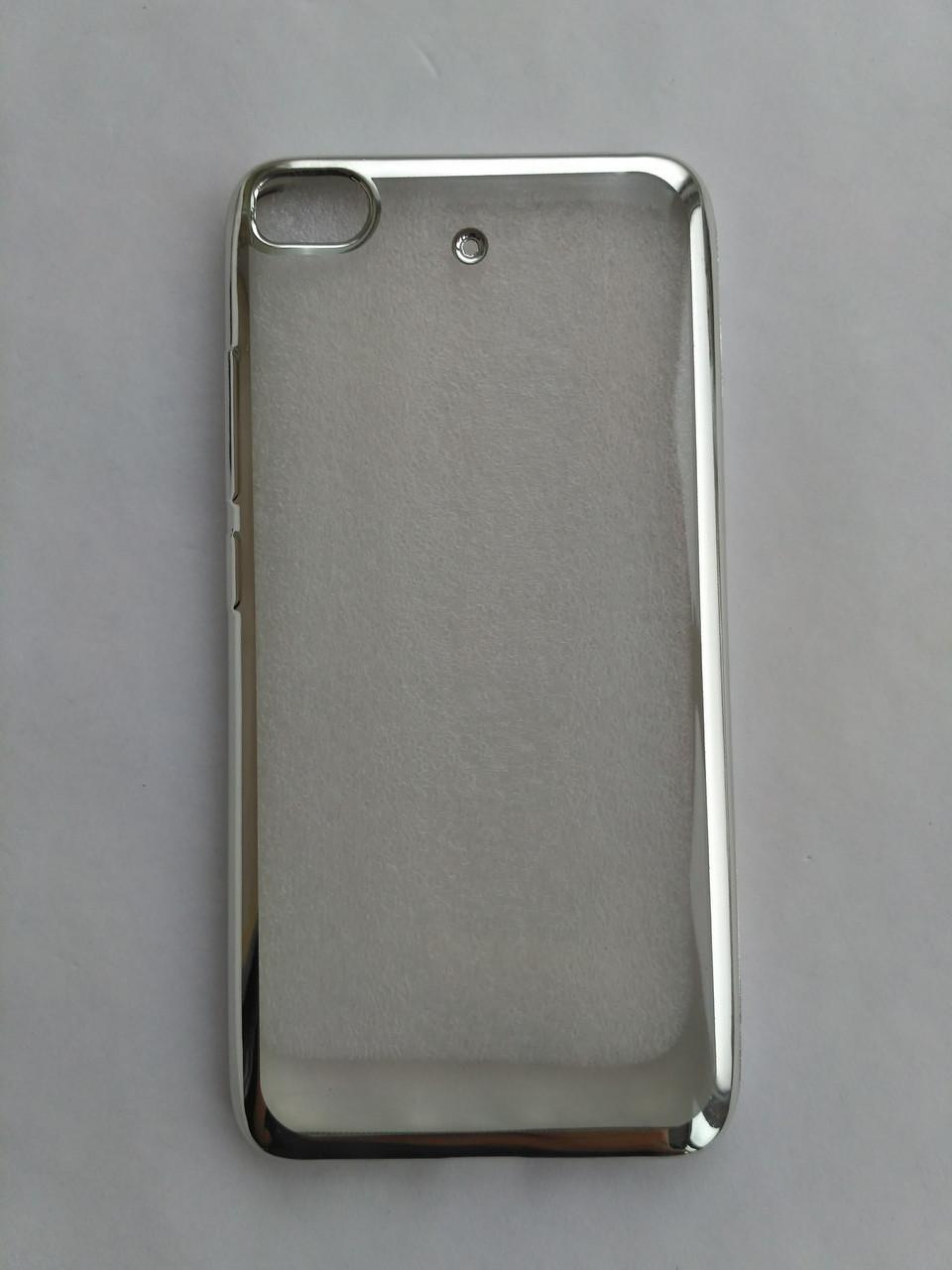 Силиконовый чехол для Xiaomi Mi5s с серебряной рамкой