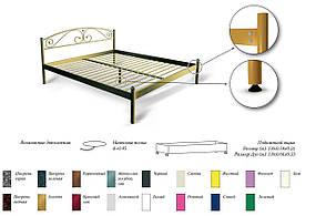 Кровать металлическая Палермо (Palermo), фото 3
