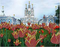 Схема для вышивки картин бисером А3 Смольный собор, г.Санкт-Петербург КМР  3101