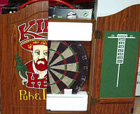 Мишень для дартс d-43см пробковая в кабинете (Kings Head) Дартс с кабинетом