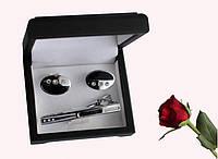 Запонки и зажим для галстуков набор  artnab-005