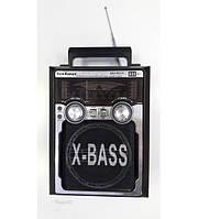 Акустическая колонка-радио KN-61 REC-R переносная на аккумуляторе бумбокс-радио