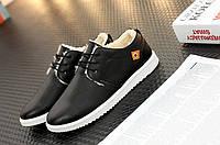 Зимние мужские ботинки( полуботинки), черные,верх-кожа,внутри-овчина,евро-зима р-р 40-44