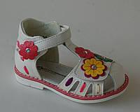 Шалунишка арт. 100-232 белый. цветы     Босоножки для девочек