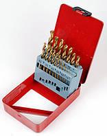 Набор сверл по металлу Р6М5 титан 19 шт. 1,0-10,0 мм, арт. 122-190