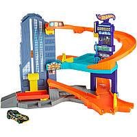 Трек Большой город Hot Wheels. Launching Garage - Speedtropolis Play Set