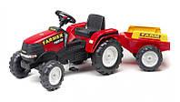 Детский трактор на педалях Falk 1021AB Farm Power Max