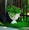 Вазон садовый для цветов «Гречанка» бетонный - Фото