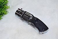 Зажигалка в виде револьвера с ножом., фото 1