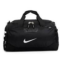 Спортивная сумка Nike черная с белым логотипом
