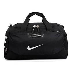 Спортивная сумка Nike черная с белым логотипом (реплика)