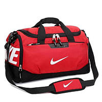 Спортивная сумка Nike красная с белым логотипом